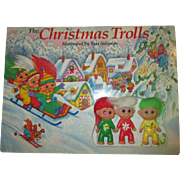 1992 The Christmas Troll board book with 3 troll dolls complete Yuri Salzman 3 dolls