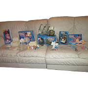 Mattel HEART Family Barbie's friends doll collection with furniture accessories and doll 1980's