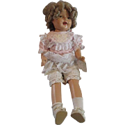 Shirley Temple Large size composition doll repaired 28""