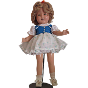 """Old 17"""" Shirley Temple Composition doll marked on back !"""