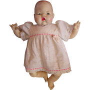 "Thumbelina doll 1980's IDEAL baby doll 1983 in original dress 17"" Newborn"
