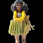 """Vintage 8"""" Hard plastic strung Pam Virga dolls Hawaiian Hawaii Aloha Ginny era"""
