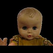 "19"" Playpal style boy baby doll large cranium Marked 20-J-20-5  vinyl plastic"