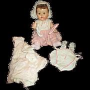 "Gorgeous American Character Tiny Tears original dress, onsie, 17"""