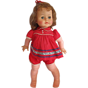 """Pretty 22"""" IDEAL KISSY Doll in original outfit still puckers up and kisses!"""