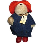 "Tiny little miniature Paddington bear in slickers  5"" tall"