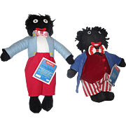 2 Dean's Rag Dolls Limited Edition based on books by Florence Upton Golly and Jolly Golly numbered tagged