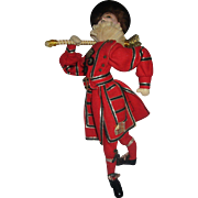 """Very Rare  KLUMPE Beefeater British cloth doll tagged made in Spain 12"""""""