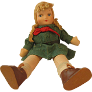 """Vintage Georgene Novelties Girl Scout Cloth blonde doll. Very nice condition 14"""""""