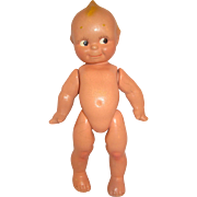 "13"" Vintage All composition KEWPIE doll pudgy baby belly side glance eyes"