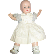 "15"" Composition and Cloth baby doll possibly marked APX sleep eyes"