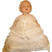 "E.I.H. Doll company Early Horsman Large Composition Baby doll 26"" teeth Dimples 1920's"