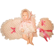1980 Effanbee BABY LISA doll with pillows original outfit by ASTRI 10""