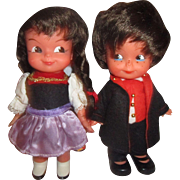Cutest Little Vintage dolls 1970's Sweetheart and HHC babies but eyes all original pair