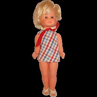 "Furga Italocremona style unmarked Mod doll 1960's  original dress 12"""