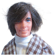 Mod Ken Barbie with tag on wrist vintage 1970's hair guy