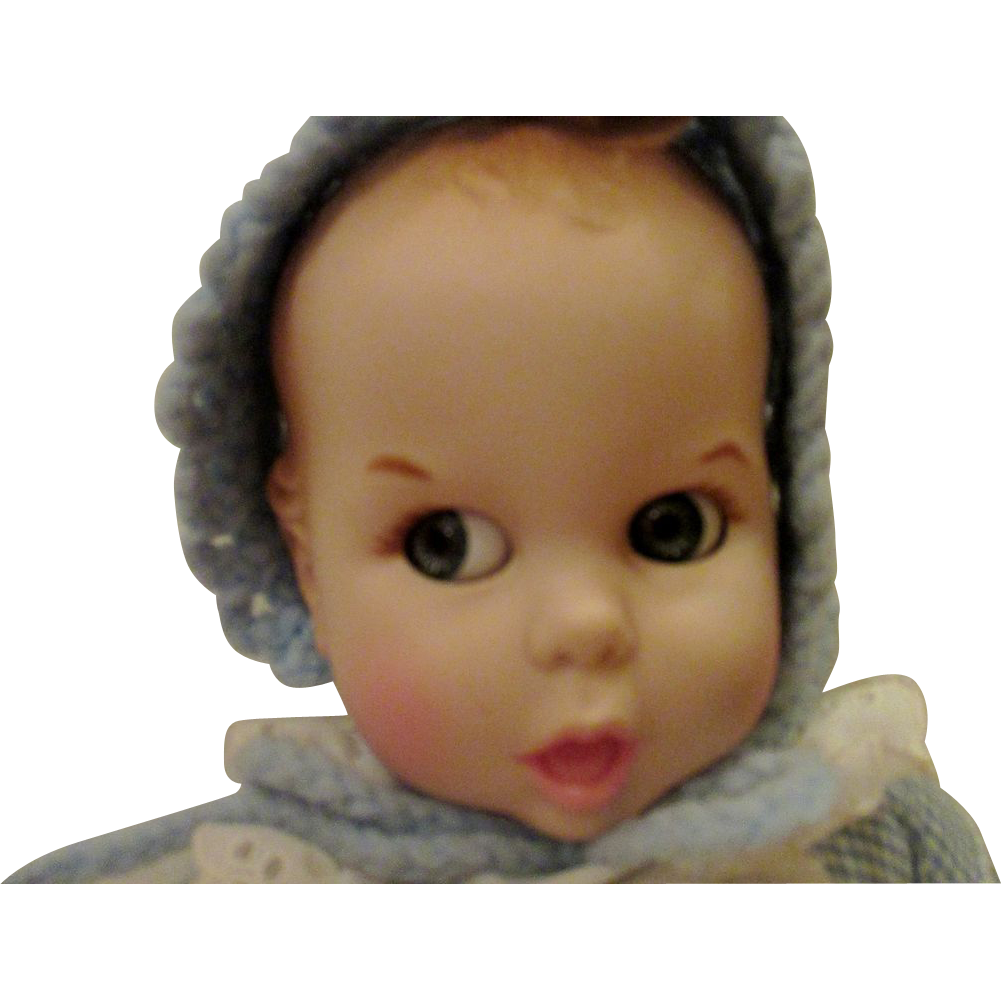 Vintage Gerber Baby doll in blue googly eyes clean pretty