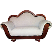 Victorian styled sofa fainting couch miniature salesman sample - Red Tag Sale Item