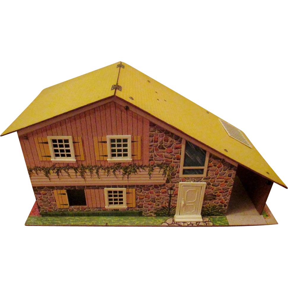 Vintage Wooden Dollhouse 54