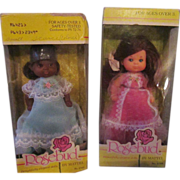 2 MIB ROSEBUD doll by Mattel Scarlett Gem Baby White Rose