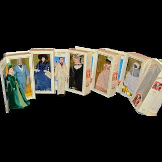 Set of 7 GWTW Gone with the Wind portrait dolls World Doll