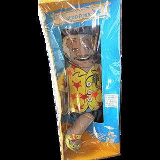Shindana Redd Foxx cloth doll in original box not talking personality 1970's