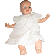 1958 Vintage Effanbee Rubber vinyl baby doll with teeth adorable play doll 22""