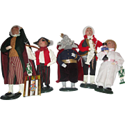 Byers Choice Carolers Second Edition Nutcracker SET includes 5 figurines Mouse King and Prince