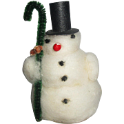 "Putz era little spun woold snowmant for display measures 3.5"" super cute."