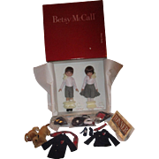 Betsy McCall Betsy's Family boxed set by Tonner Betsy, her brother Sandy, her dog Nosey  and accessories in original box