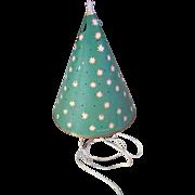 Vintage motion light spinning Christmas tree display untested.