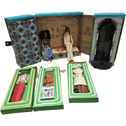 MEGO Sonny and Cher dolls and carry case stage vintage 1970's and extras LOOK