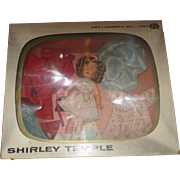 "12"" Shirley Temple with wardrobe IDEAL doll 1950's in original TV box, pin, never played with"