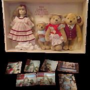 Teddy Bear Family Steiff Goldilocks and the Three Bears with doll S. Gibson  limited edition set 1984