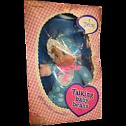 Vintage Mattel Talking Baby Beans in original box never removed 1970's blue