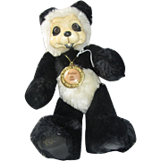 Lovely Robert Raikes RARE Panda bear teddy poses, 30th anniversar​y wooden face