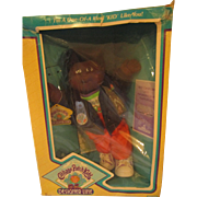 Vintage Cabbage Patch Kid doll in original box with papers 1989 Designer Line AA dark Monroe
