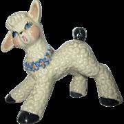 Frisky Baby Lamb for Mary HAd a Little lamb pottery figurine Ceramic Arts Studio 1952