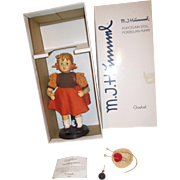 Large M.J. Hummel porcelain doll Goebel School Girl with accessories box