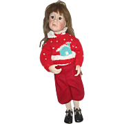 """Julie Good-Kruger doll signed and numbered Everything Nice for Christmas 21"""""""