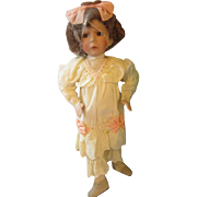 Pouty scowling Mother Goose series doll MIB The Little Girl with a Curl Effner
