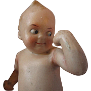 """4"""" all original LIMBACH fighting googly eyed brat kid doll comical and adorable"""
