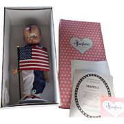 "1996 Olympic Skippy and Olympic Patsy Effanbee 14"" pair of dolls adorable, boxed COA limited edition"