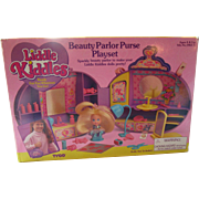 Liddle kiddle by Tyco 1994 Tyco Beauty Parlor Purse Playset 35 pieces MIB never opened