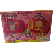 Tyco 1994 Liddle kiddle Fashion Purse Playset unopened with 36 miniature pieces for your Liddle Kiddle doll fun