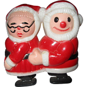 RARE vintage Santa and Mrs. Claus Ramp Walker toy
