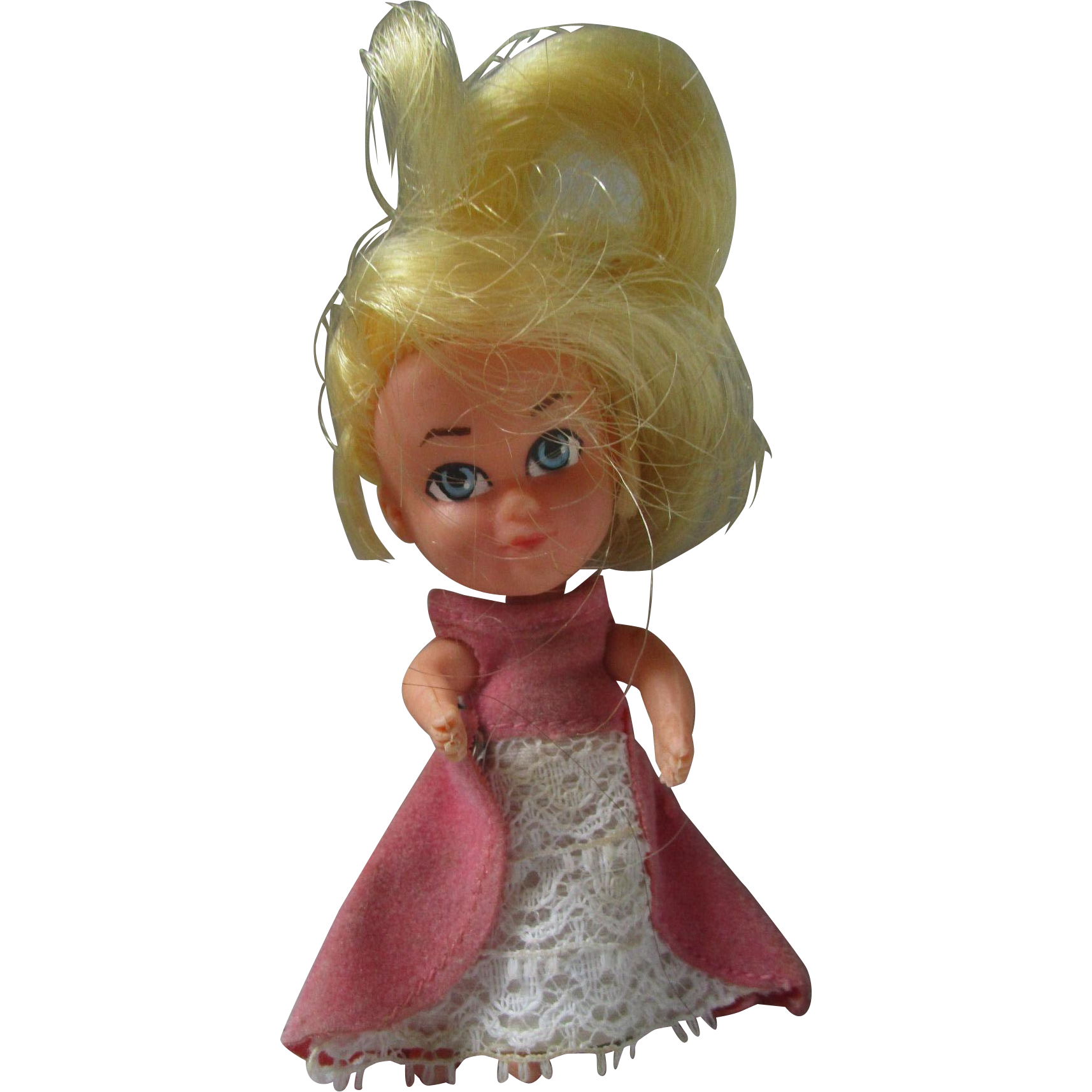 1960's Storykins Cinderella doll in original dress liddle kiddle friend mail in premium