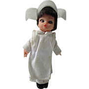 1960's Kiddle Era Dolly Darling by Hasbro Flying Nun miniature doll Sally Field in nun habit