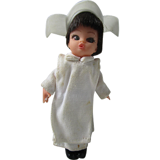 1960's Kiddle Era Dolly Darling by Hasbro Flying Nun miniature doll Sally Field in nun habit