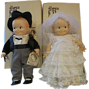 O'Neill Cameo KEWPIE Bride and Groom vinyl dolls adorable set boxed wedding dolls